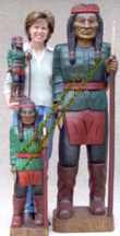 Wooden Indian size comparison