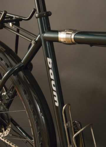 Baum Cycles Cappuccino MTB touring bike with S and S Couplings