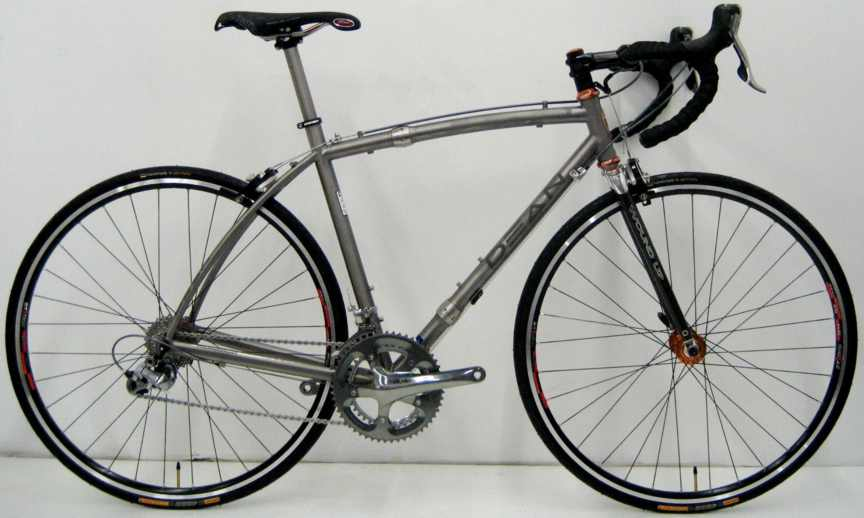 Dean Titanium Bicycles custom touring bike with S and S Couplings